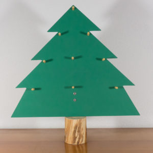 Wooden green Christmas tree