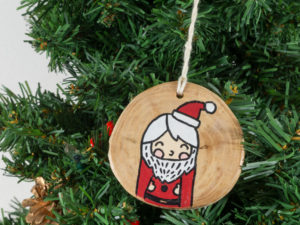 Christmas tree decorations Santa Claus