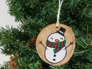 Christmas tree decorations snowman