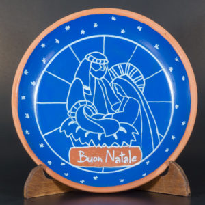 Hand-decorated Christmas plate