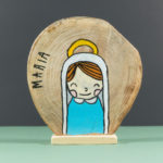 Wooden nativity figurines Mary