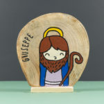 Wooden nativity figurines Joseph